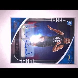 Los Angeles chargers JOE REED AUTOGRAPH ROOKIE RC!